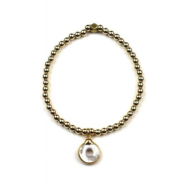 Open Circle Ball Bracelet-0