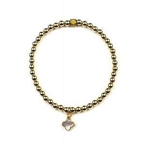 Petite Clover Ball Bracelet-0