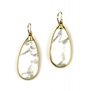 Solid Teardrop Mother of Pearl Earrings-0