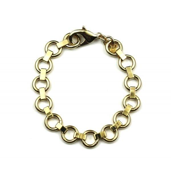 Petite Circle Chain Bracelet-0