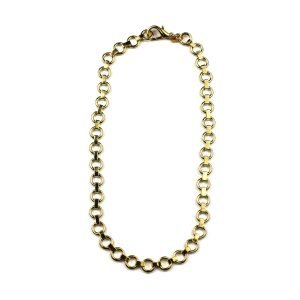 Petite Circle Chain Necklace-0