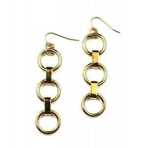 Circle Chain Earrings-0