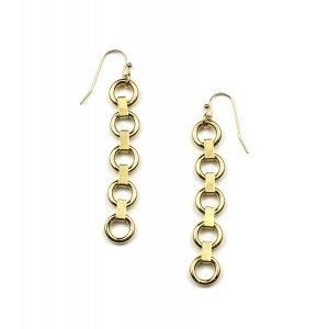 Petite Circle Chain Earrings-0