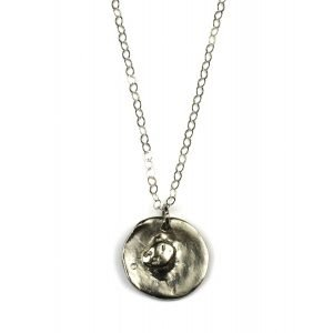 Silver Abstract Pendant Chain Necklace-0