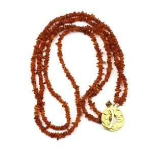 Long Amber Necklace-0