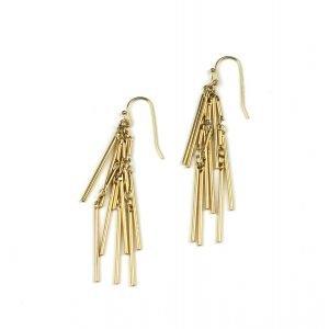 Petite Triple Spike Chain Earrings-0