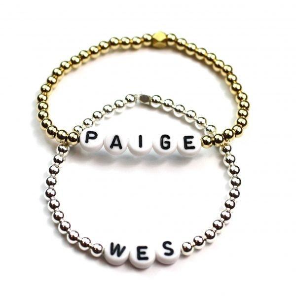 Ball Name Bracelet Set -4821