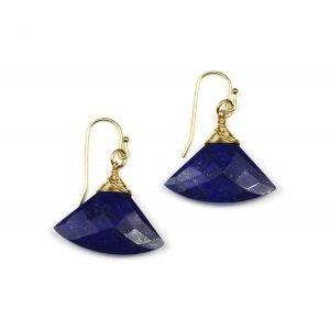 Lapis Fan Earrings-0