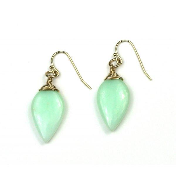 Peruvian Opal Teardrop Earrings-0