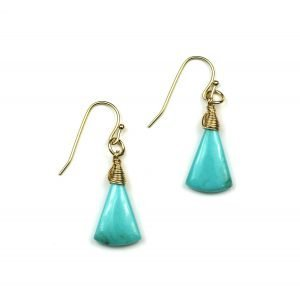 Turquoise Triangle Earrings-0