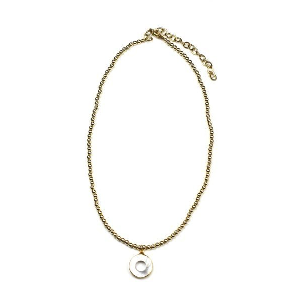4MM Adjustable Mother of Pearl Necklace-0