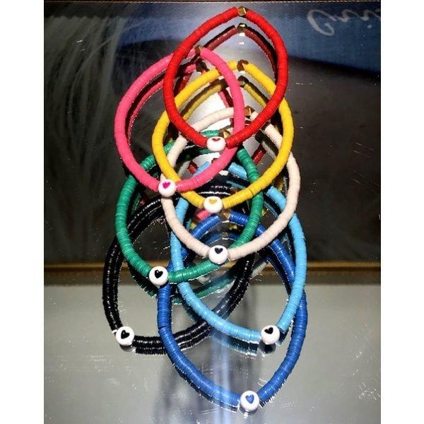 4MM Colorful Heart Bracelet-4888