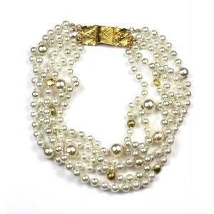 Swarovski Pearl Statement Necklace-0