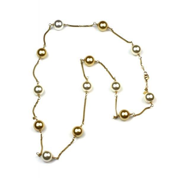 Swarovski Pearl Floating Necklace-0
