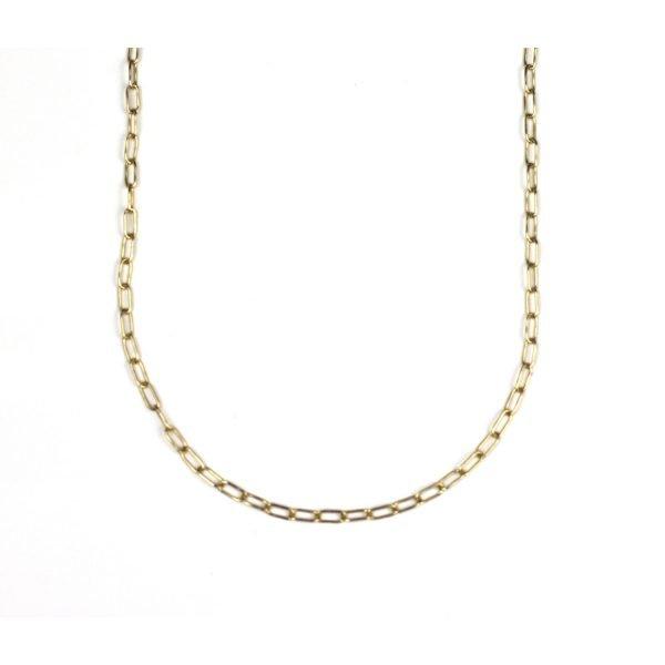 Tiny Safety Pin Necklace-0
