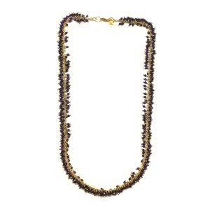 Purple Dangle Necklace-0