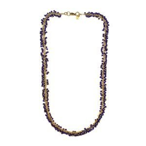 Midnight Blue Dangle Necklace-0
