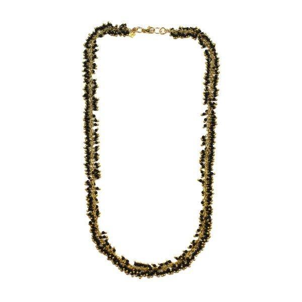 Black Dangle Necklace-0
