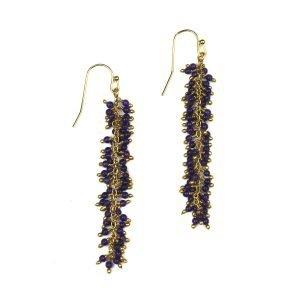 Purple Dangle Earrings-0