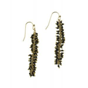 Black Dangle Earrings-0