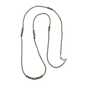 "39"" Pyrite Stone Layer Necklace-0"