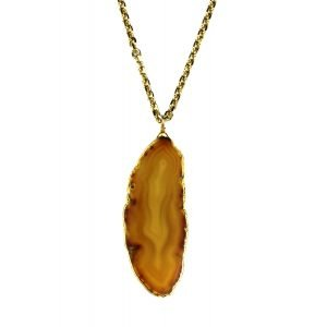 Butterscotch Geode Necklace-0