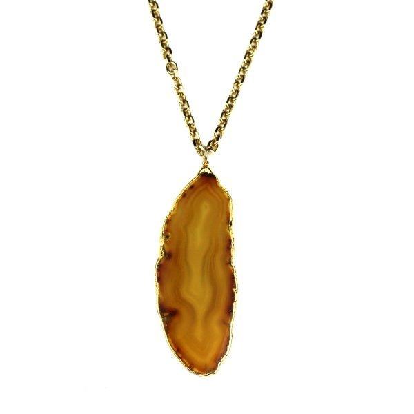 Butterscotch Geode Necklace-0