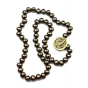 Taupe Shell Pearl Necklace-0