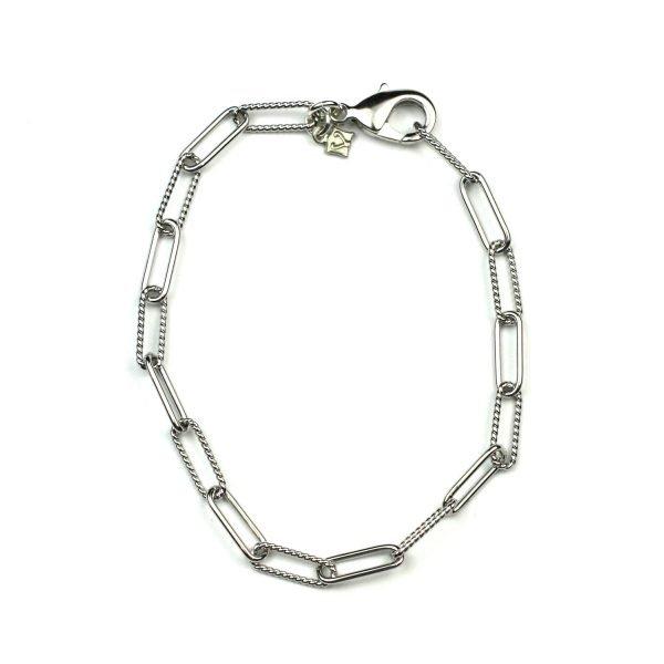Petite Corrugated Safety Pin Bracelet-4991