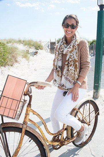 Cristina V. on Bike