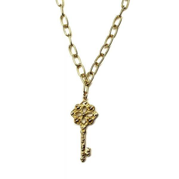 Key Charm Necklace-0