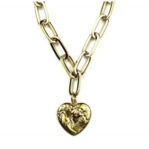 Heart Charm Necklace-0
