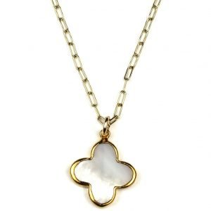 Clover Charm Necklace-0