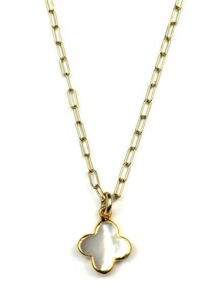 Petite Clover Charm Necklace-0