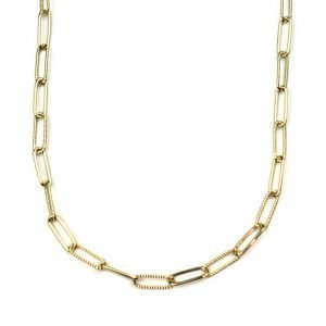 Corrugated Safety Pin Necklace-0